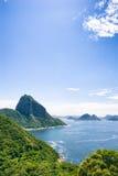 Zuckerhut-Grün und Guanabara-Bucht Rio Stockfoto