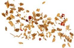 Zuckermaisflocken- und -fruchtexplosion lizenzfreies stockfoto