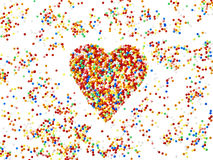 Zuckerperlen bunt Herz Royaltyfri Bild