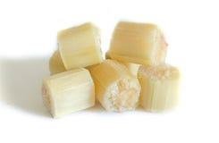 Zuckerrohr lokalisiert auf weißem Hintergrund Stockfoto