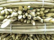 Zuckerrohrverkauf auf Straßenmarkt Stockbilder