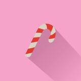 Zuckerstange auf rosa Hintergrund stock abbildung