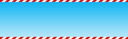 Zuckerstangeweb-Vorsatz/-fahne Lizenzfreie Stockfotografie