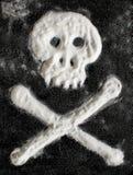Zuckertotenkopf mit gekreuzter knochen Lizenzfreies Stockbild