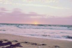 Zuckerwatte-Sonnenuntergang Stockbild