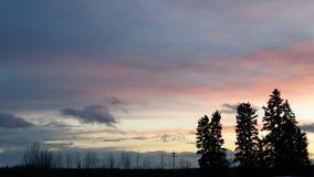 Zuckerwatte-Sonnenuntergang Stockfotografie