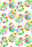 Zueco inconsútil del huevo de la acuarela Imagenes de archivo