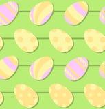 Zueco pintado inconsútil del vector del huevo de Pascua Foto de archivo libre de regalías