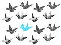 Zueco poligonal de las grúas de la papiroflexia del vector Fotografía de archivo libre de regalías