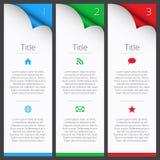 Zuerst infographic Elemente des zweiten und dritten Vektors lizenzfreie abbildung