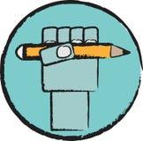 Zuerst mit Bleistift Lizenzfreie Abbildung