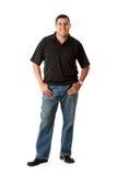 Zufällig: Netter zufälliger Mann auf Weiß Stockfotos