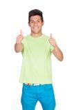 Zufällige junge Männer, die o.k. sagen Lizenzfreies Stockfoto