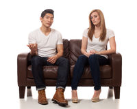 Zufällige junge Paare Lizenzfreies Stockbild