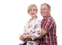 Zufällige kaukasische Paare Lizenzfreies Stockbild