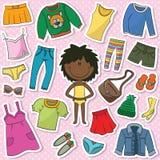 Zufällige Kleidung für Mädchen Lizenzfreie Stockfotografie
