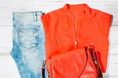 Zufällige weibliche Sommerkleidungssammlung Lizenzfreie Stockfotografie
