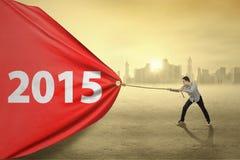 Zufälliger Mann, der Nr. 2015 zieht Lizenzfreie Stockfotografie