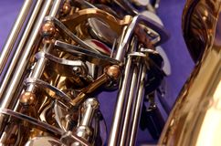 Zufälliges Saxophon lizenzfreie stockfotografie