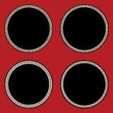 Zufar-Kreis-Rahmen-Satz Stockbilder