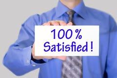 100 zufrieden gestellt Stockbilder