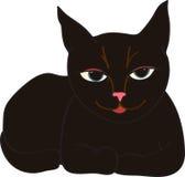 Zufrieden gestellte Katze Lizenzfreies Stockbild