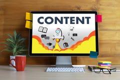 ZUFRIEDENE Marketing Daten-Blogging Medien-Veröffentlichungs-Informationen VI Lizenzfreies Stockbild