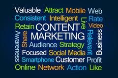 Zufriedene Marketing-Wort-Wolke Lizenzfreie Stockfotos