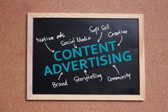 Zufriedene Werbung, Motivgeschäfts-Marketing-Wörter zitiert Konzept lizenzfreies stockfoto
