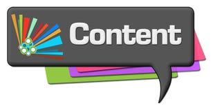 Zufriedenes dunkles buntes Kommentar-Symbol Lizenzfreie Stockfotografie