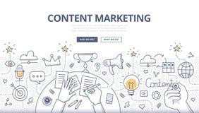 Zufriedenes Marketing-Gekritzel-Konzept Lizenzfreie Stockfotos