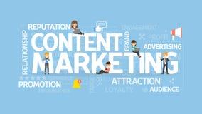 Zufriedenes Marketing-Konzept vektor abbildung