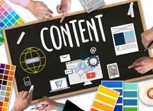 Zufriedenes Marketing, on-line-Konzept, zufriedene Daten-Blogging Medien Stockfoto