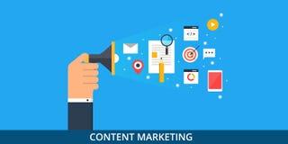 Zufriedenes Marketing - zufriedene Förderung - digitales Brandingkonzept - flache Netzfahne vektor abbildung