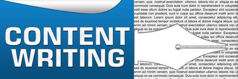 Zufriedenes Schreiben horizontal Lizenzfreies Stockfoto
