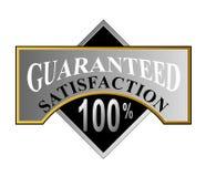 Zufriedenheit 100% garantiert Lizenzfreies Stockbild