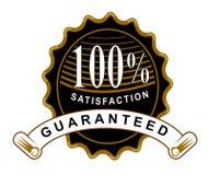 Zufriedenheit 100% garantiert Stockfoto