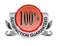 Zufriedenheit 100% garantiert Stockfotos