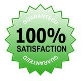 Zufriedenheit 100% garantiert Lizenzfreies Stockfoto