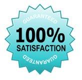 Zufriedenheit 100% garantiert Lizenzfreie Stockfotografie