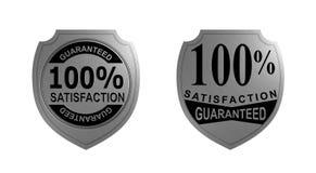 Zufriedenheit 100% garantierte Stockfotos