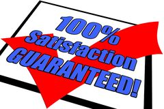 Zufriedenheit 100% garantiertes Konzept Lizenzfreie Stockfotos