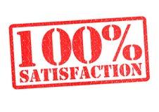 Zufriedenheit 100% stock abbildung