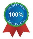 Zufriedenheit garantiertes Abzeichen Lizenzfreie Stockbilder