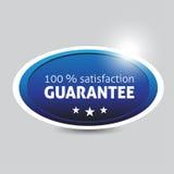 Zufriedenheits-Garantiekennsatz Lizenzfreies Stockfoto