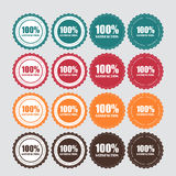 100% Zufriedenheits-goldener Aufkleber-Vektor Stockfotografie