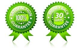 Zufriedenheits- und Geldrückseitengarantiekennsätze Lizenzfreie Stockfotos