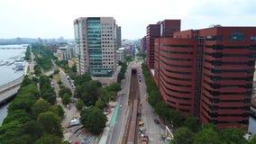 Zug in Boston 4k stock video footage