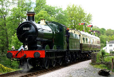 Zug an Buckfastleigh-Station lizenzfreie stockfotografie