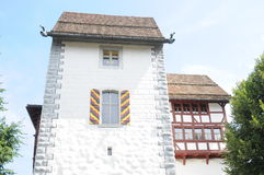Zug Castle. Counts of Kyburg and Habsburg have used the castle over time. Part of the castle is the oldest part of the town of Zug. Today it is a museum Royalty Free Stock Photos